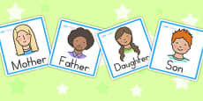 Australia - Family Members Role Play Badges