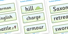 The Battle of Hastings Word Cards