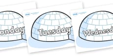 Days of the Week on Igloos