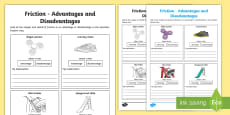 Friction Advantages and Disadvantages Activity Sheet