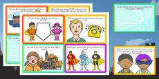 Superhero Role Play Challenge Cards