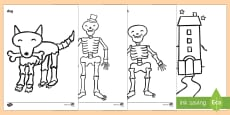 Colouring Sheets to Support Teaching on Funnybones