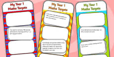 2014 Curriculum Year 1 Maths Target Bookmarks