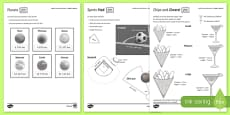 Shape at Home: Spheres, Cones and Sectors GCSE Grades 5 and Up Activity Sheet