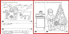 * NEW * Santa Claus Christmas Coloring Activity Sheets