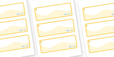 Aspen Themed Editable Drawer-Peg-Name Labels (Colourful)