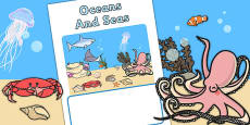 Editable Seas And Oceans Book Cover (Under the Sea)