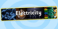 Electricity Photo Display Banner