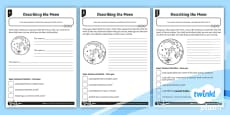 Describing the Moon Differentiated Activity Sheets