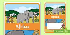 Editable Africa Topic Book Cover