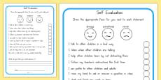 Self Evaluation Sheet