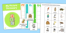 Picture Dictionary and Word Card Set to Support Teaching on The Great Pet Sale
