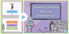 LKS2 Summer Holiday Activity Randomiser PowerPoint
