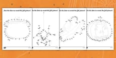Halloween Dot to Dot Activity Sheet Pack