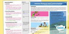PlanIt - Computing Year 3 - Internet Research and Communication Planning Overview