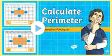 Calculate Perimeter Interactive  PowerPoint