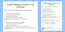 Guided Reading Questions Chapters 16, 17 and 18 to Support Teaching on Fantastic Mr Fox
