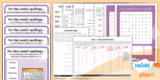PlanIt Y1 Term 2A Bumper Spelling Pack