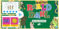 Roald Dahl Themed Year 2 Morning Activities Incidental Welsh PowerPoint