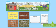 Three Little Pigs Building Site Role Play Pack
