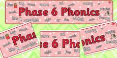 Phase 6 Phonics Display Banner