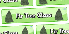 Fir Tree Themed Classroom Display Banner