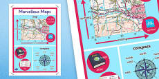 Marvellous Maps Large Display Poster