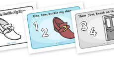 One Two Buckle My Shoe Sequencing (A4)