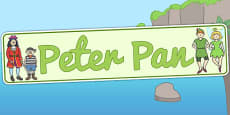 Peter Pan Display Banner