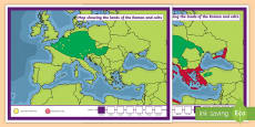 Roman Empire Celts and Romans Display Maps