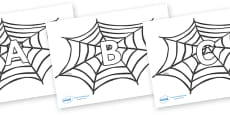 A-Z Alphabet on Spiders Web