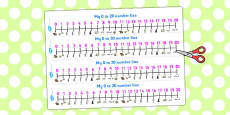 Hansel and Gretel Number Lines 0-20