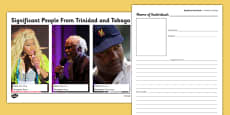 Trinidad and Tobago Significant People Information and Writing Frame
