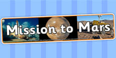 Mission to Mars Photo Display Banner