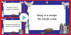 Away In A Manger Christmas Carol Lyrics PowerPoint