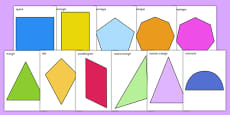 2D Shape A4 Cut-Outs