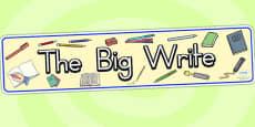 Australia - The Big Write Display Banner