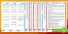 * NEW * Chinese New Year Differentiated Reading Comprehension Activity English/Mandarin Chinese