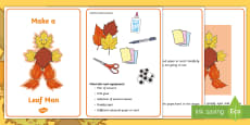 * NEW * Leaf Man Craft Instructions