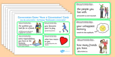 Conversation Game Have A Conversation Cards Green Romanian Translation