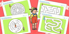 Pinocchio Differentiated Maze Activity Sheet Pack