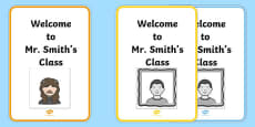 Avatar Creator Template Welcome to Class Welcome Sign