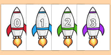 Calendar Numbers 0-31 on Rockets (Portrait)