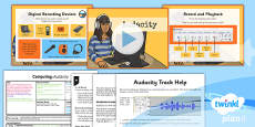 PlanIt - Computing Year 5 - Radio Station Lesson 1: Audacity Lesson Pack