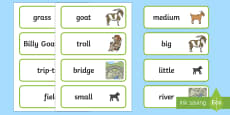 The Three Billy Goats Gruff Word Cards