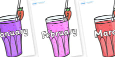 Months of the Year on Smoothies