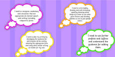 2014 Curriculum UKS2 Years 5 and 6 Writing Assessment I Need to Thought Bubbles