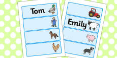 Farmer And Duck Editable Drawer Peg Name Labels