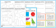 Area and Perimeter Resource Pack