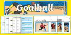 The Paralympics Goalball Resource Pack